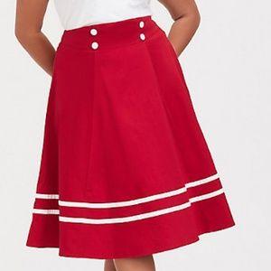 Torrid retro chic nautical swing skirt